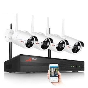 ANRAN Övervakningssystem trådlösa övervakningskameror, Wi-fi 5MP vit 3TB