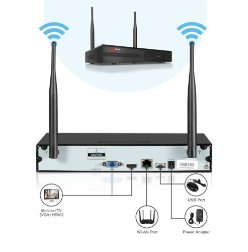 ANRAN Övervakningssystem trådlösa övervakningskameror, Wi-fi 5MP 3TB