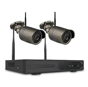 SUMOGUARD Övervakningssystem 2st kameror Wi-fi 720P HD 3TB