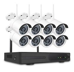 SUMOGUARD Övervakningssystem trådlöst Wi-fi 720P HD 3TB Hårddisk