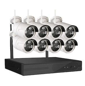 SUMOGUARD Övervakningssystem trådlöst Wi-fi 960P HD 3TB Hårddisk