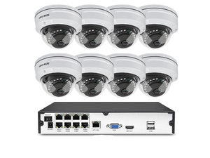 Komplett PoE Övervakningssystem Techege 1080P 8 Kameror 3TB