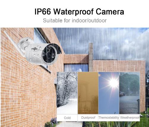 HISEEU Övervakningssystem 8st WIFI kameror 1080P