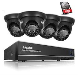ANNKE övervakningssystem 4st kameror 720P Väderbeständiga