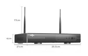 HISEEU Komplett Övervakningssystem 4st trådlösa IP-kameror 960P Vattentäta 4TB