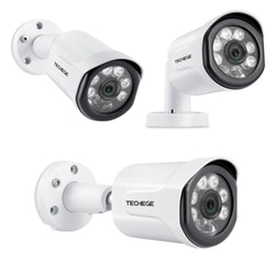 Techege PoE Övervakningssystem 1080P 4 Kameror IP66 4MP + 4TB