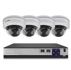 Techege PoE Övervakningssystem 1080P 4 Kameror IP66 2MP 4TB