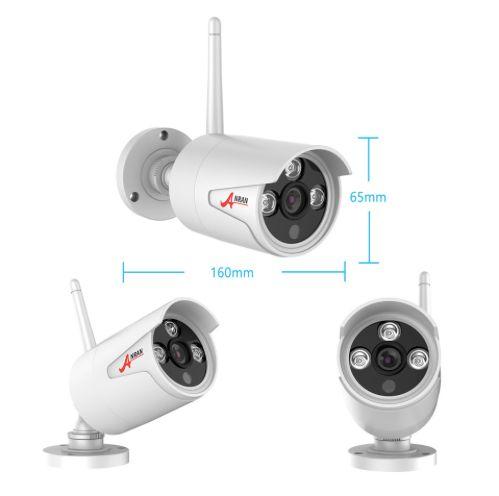 ANRAN Övervakningssystem trådlösa övervakningskameror, Wi-fi 5MP vit 4TB