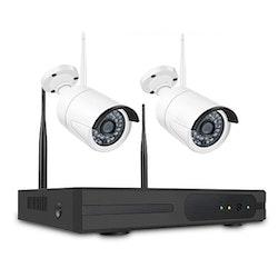 SUMOGUARD Övervakningssystem 2st kameror Wi-fi 720P HD 4TB