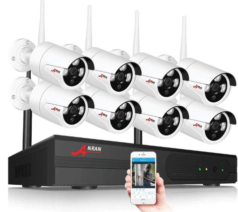 Anran övervakningspaket 8st kameror 1080P Wifi 4TB hårddisk