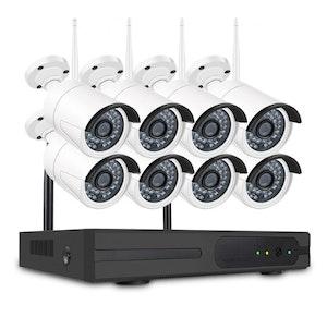 SUMOGUARD Övervakningssystem trådlöst Wi-fi 720P HD 4TB Hårddisk