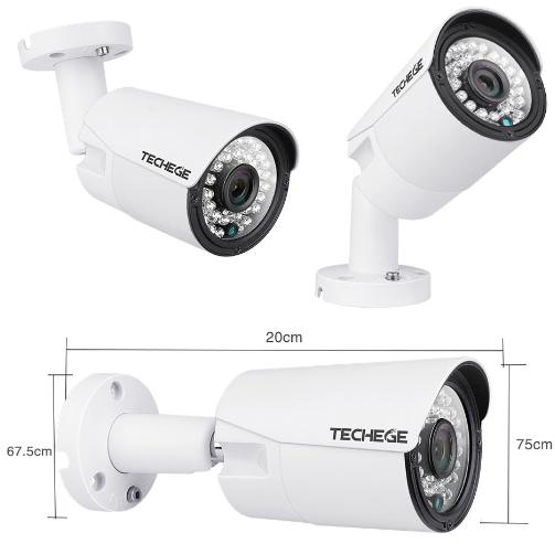 Komplett PoE Övervakningssystem 8 kanaler Techege 1080P 4 Kameror 4TB