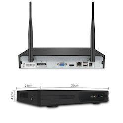 SUMOGUARD Övervakningssystem trådlöst Wi-fi 1080P HD 4TB Hårddisk