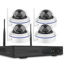 SUMOGUARD Övervakningssystem trådlösa IP-kameror, 1080P HD + 4TB