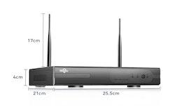 HISEEU Komplett Övervakningsset 4st Wifi kameror 960P IP66 4TB