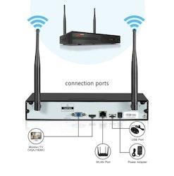 ANRAN Övervakningssystem Wi-fi NVR 1080P HD 4TB