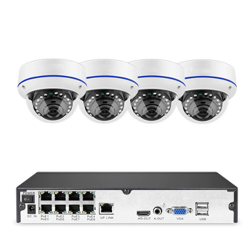 Komplett PoE Övervakningssystem Sumoguard 1080P 4 Kameror 4TB