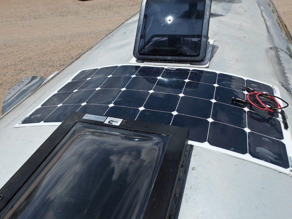 Solpanelskit flex 100w mono komplett till husvagn/husbil