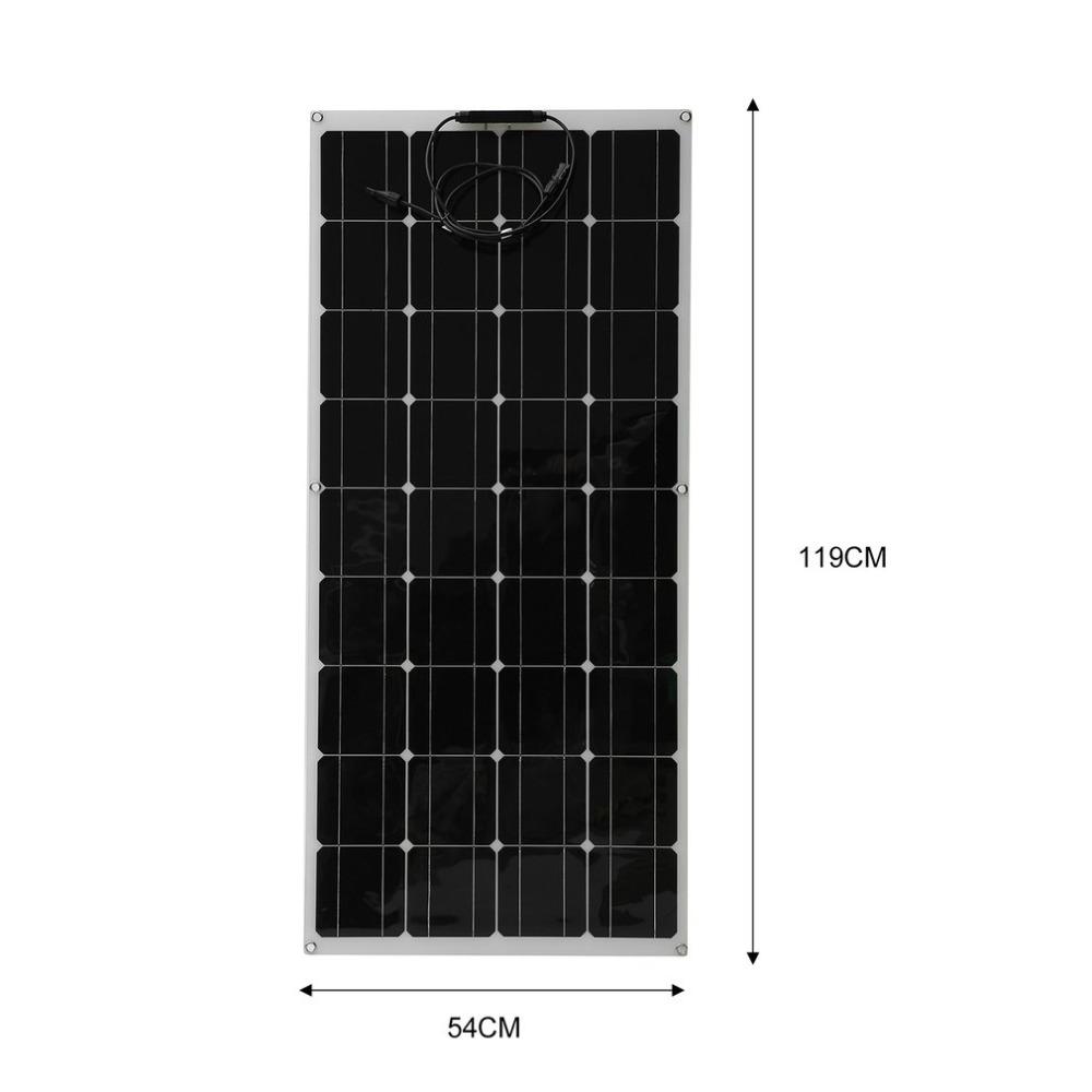 Solpanel flex 100w mono till husvagn/husbil