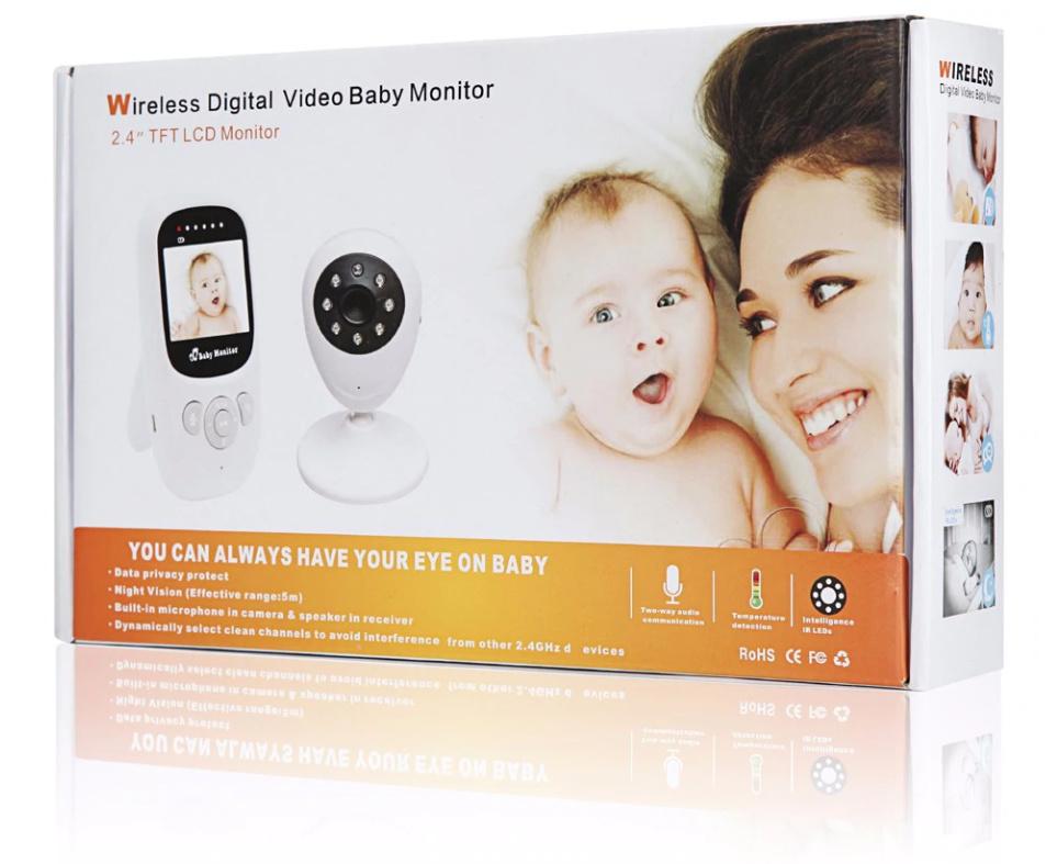 "Babyvakt LCD HD kamera 2,4"""