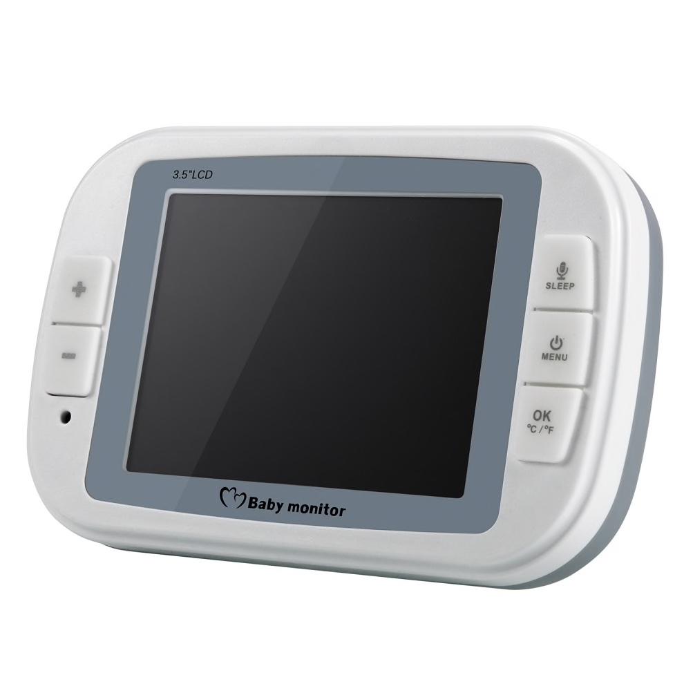 """Babyvakt 3,5"""" LCD skärm med temperaturvisning"""