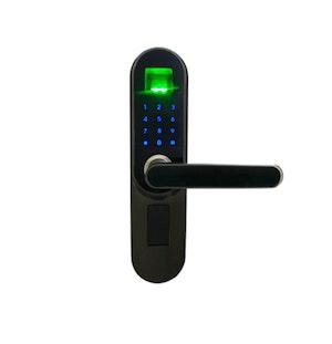 Digitalt dörrlås med Fingeravtryck svart