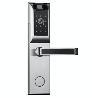 Digitalt dörrlås med Fingeravtryck Lösenord RFID APP Silver