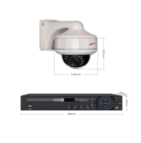 ANRAN PoE Övervakningssystem 16 st kameror 1080P IP66 Dome