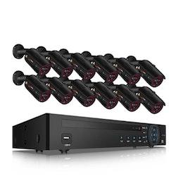 ANRAN PoE Övervakningssystem 12 st kameror 1080P IP66