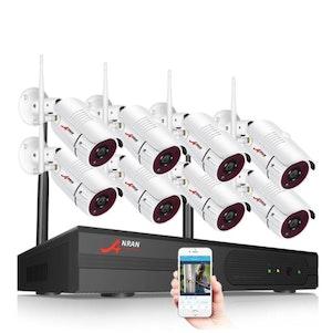 ANRAN övervakningsset 8st 2MP kameror bullet HD 1080P Wifi 3TB