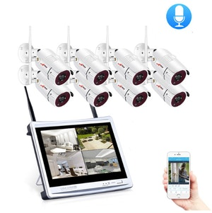 ANRAN Övervakningssystem 1080P LCD Ljudupptagning 1TB