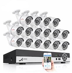 ANRAN övervakningssystem 32 st kameror 720P IP66 4TB