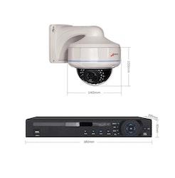 ANRAN PoE Övervakningssystem 16 st kameror 1080P IP66 Dome 4TB