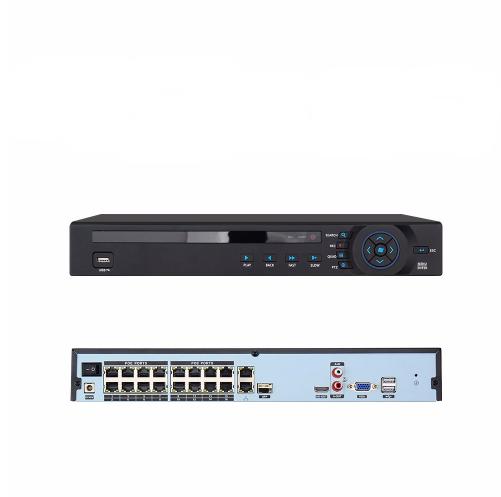 ANRAN PoE Övervakningssystem 16 st kameror 1080P IP66 4TB