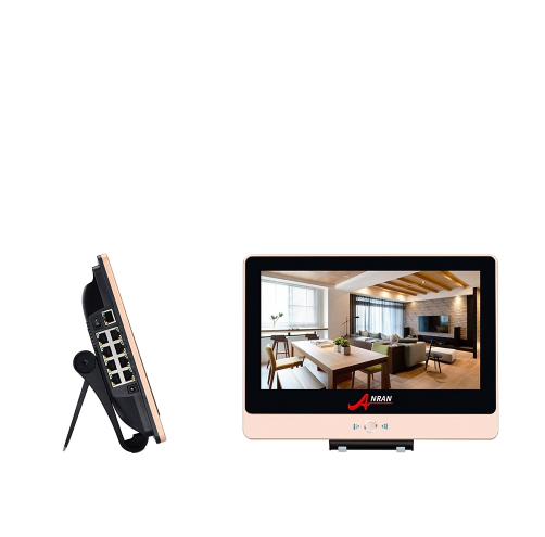 ANRAN PoE Övervakningssystem 8 st kameror 1080P IP66 LCD-skärm 4TB