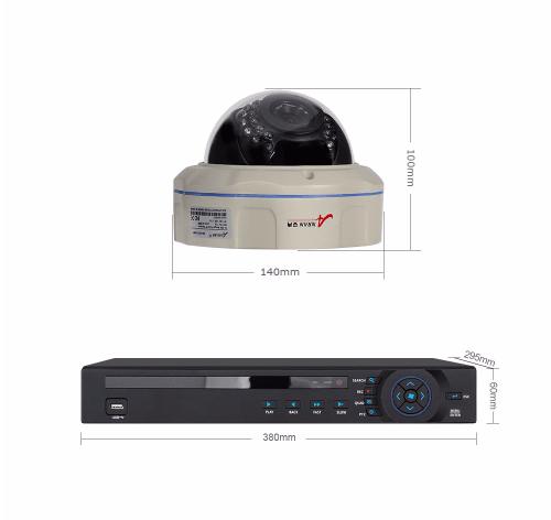 ANRAN PoE Övervakningssystem 12 st kameror 5MP IP66 Dome 2TB