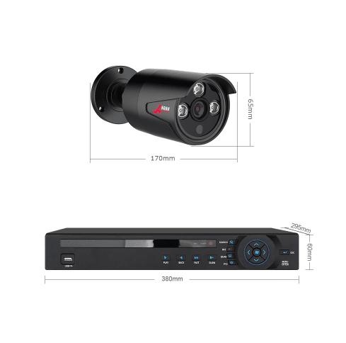 ANRAN PoE Övervakningssystem 12 st kameror 5MP IP66 1TB