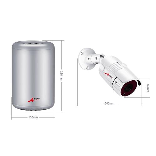 ANRAN PoE Övervakningssystem 8 st kameror 5MP IP66 1TB