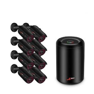 ANRAN PoE Övervakningssystem 8 st kameror 5MP IP66 4TB