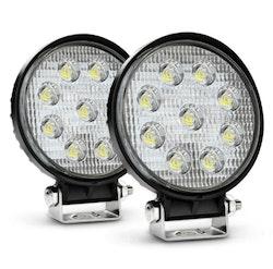 LED Extraljus 27W Spot-ljus 2-pack
