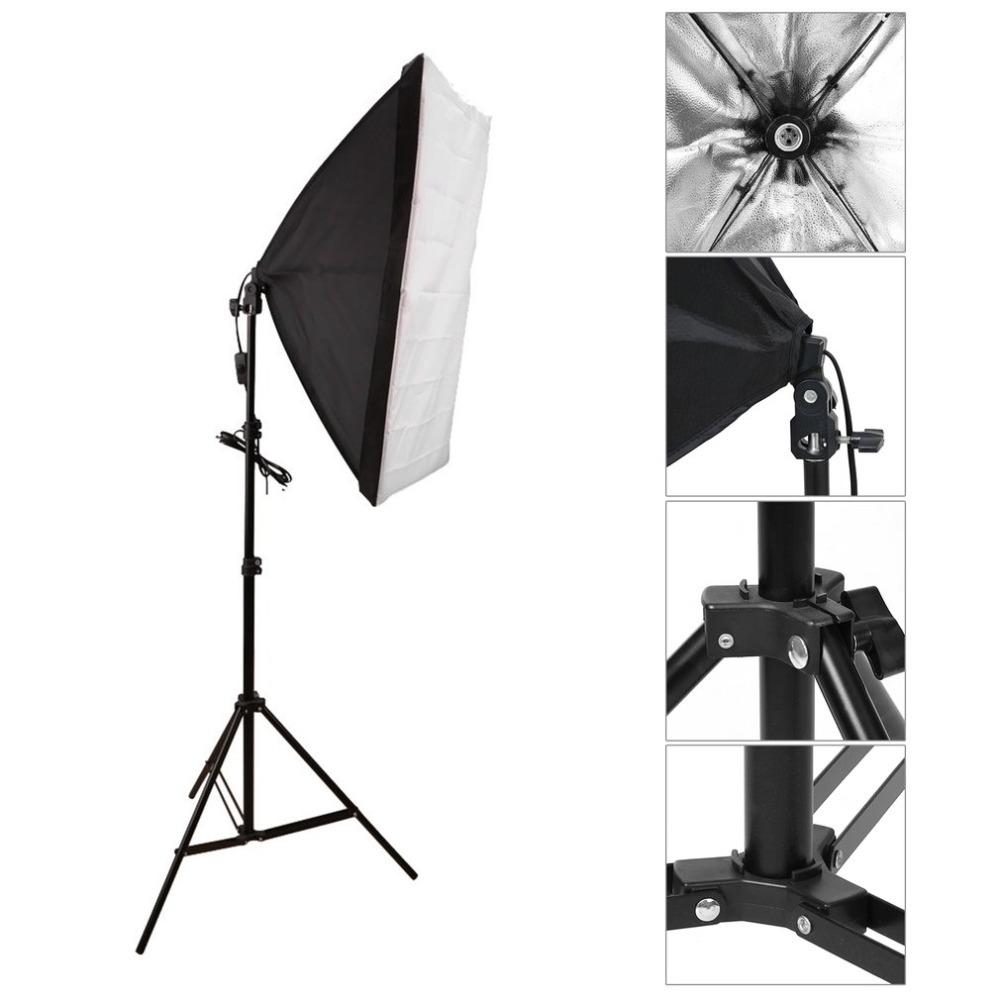 Studioset softbox belysning 2 x 135 W