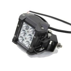 LED Extraljus 18W Spot-ljus 2-pack fjärrkontroll