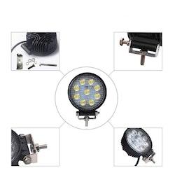 LED Extraljus 27W Spot-ljus 2-pack fjärrkontroll