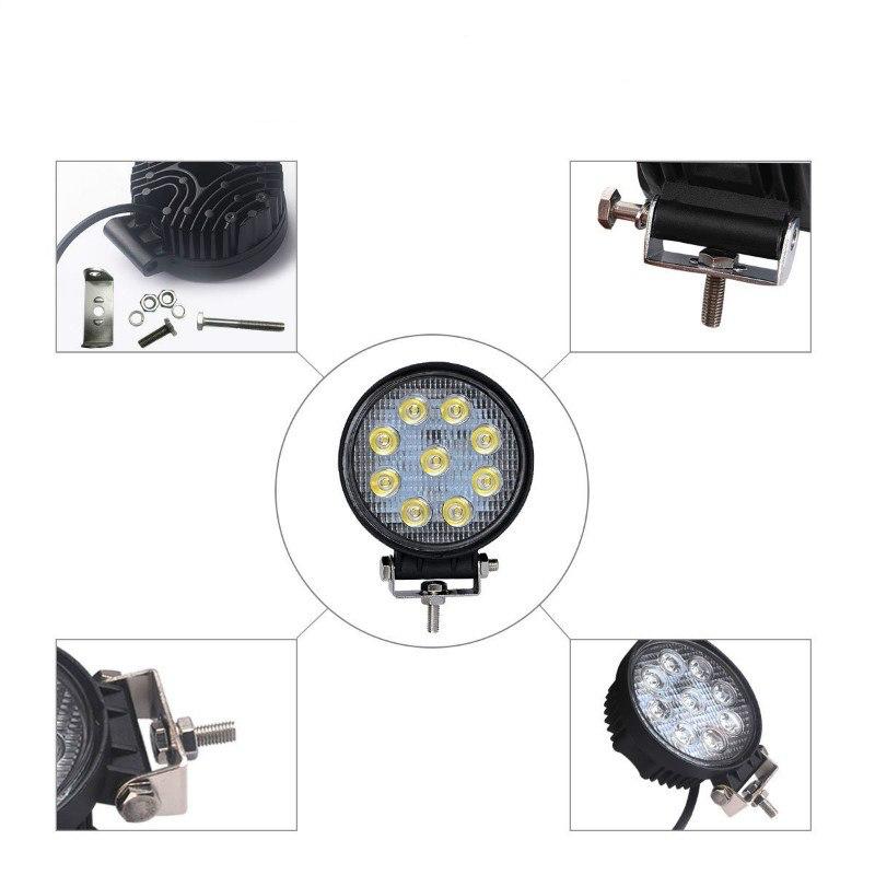 LED Extraljus 27W Flood-ljus 2-pack fjärrkontroll