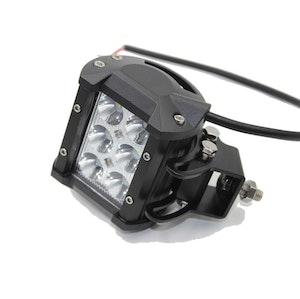 LED Extraljus 18W Flood-ljus 2-pack fjärrkontroll