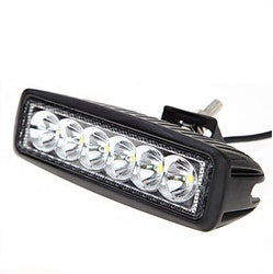 """LED Extraljus 18W Flood-ljus 6"""" 2-pack fjärrkontroll"""