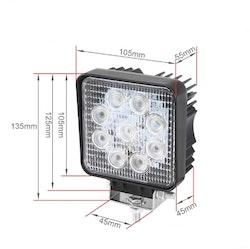 LED Extraljus 27W SPOT-ljus fjärrkontroll