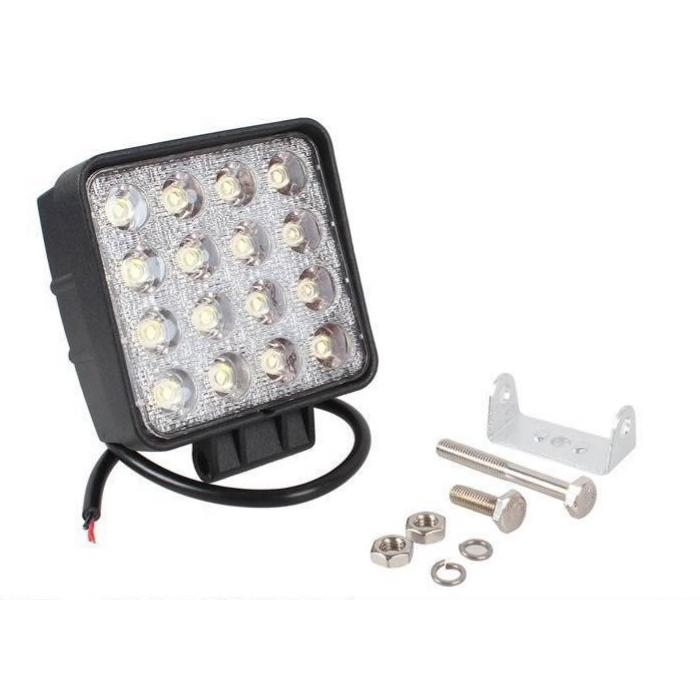 LED Extraljus 48W Flood-ljus 2 stycken fjärrkontroll