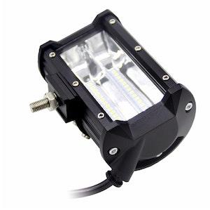 LED Extraljus arbetsbelysning 72W FLOOD-ljus fjärrkontroll