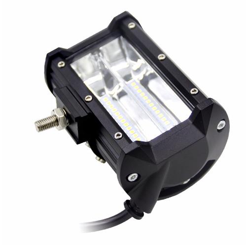 """LED Extraljus 72W FLOOD-ljus 5"""" 2-pack fjärrkontroll"""